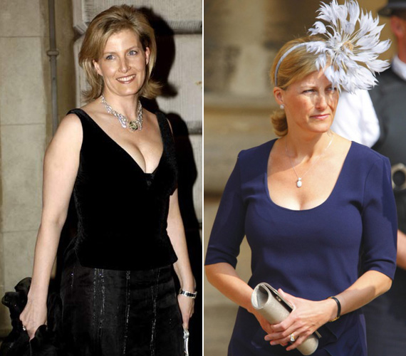 Katalin hercegnével ellentétben nem ügyel olyan gondosan frizurájára, ellenben sokszor merészebb a dekoltázsa, és bohókásabb kalapokat, fejdíszeket választ.