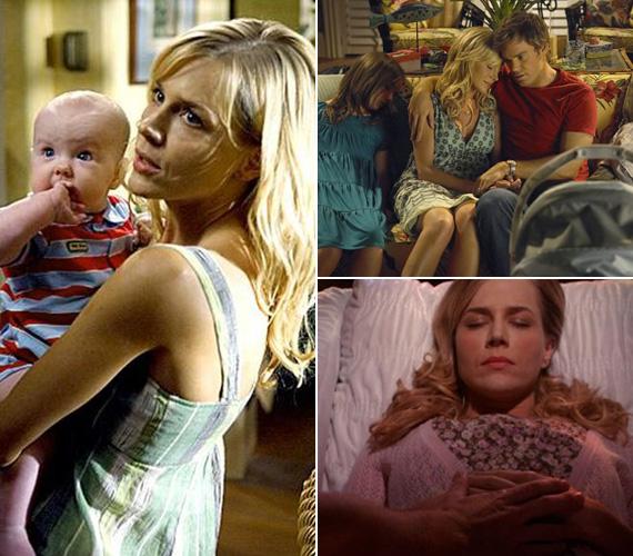 Dexter felesége, Rita egy igen véres jelenettel búcsúzott a sorozattól. Egy kádnyi vérben fekszik élettelenül, nyitott szemével kisfiát nézi, aki az ő vérében ül.