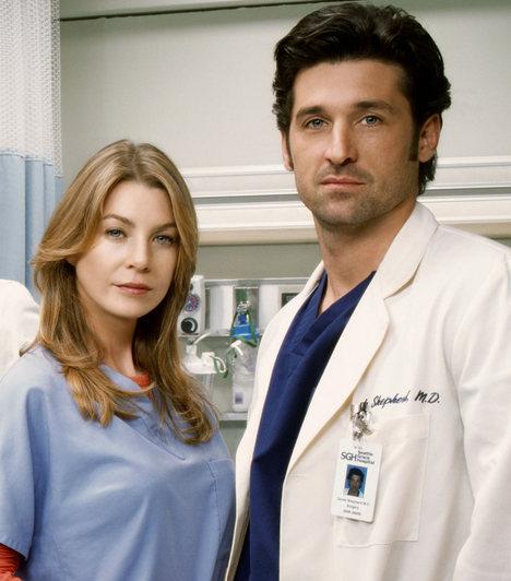 Meredith és Derek - Grace Klinika  Meredith már rezidensként közel kerül Derekhez, de kapcsolatuknak véget vet a férfi felbukkanó felesége. Később mégis őt választja, szerelmüknek azonban számos megpróbáltatást kell kibírnia, többek közt Derek szívlövését és Meredtih vetélését is.  Kapcsolódó cikk:  Meztelenül fotózták Ellen Pompeo-t »