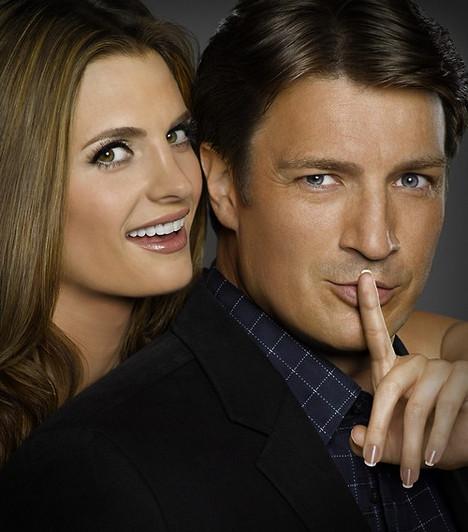 Kate és Richard - Castle  A Stana Katic által megformált Kate sokáig ellenszenvesnek tűnik Richard szemében, de a negyedik évad során már mindketten csak titkolni próbálják érzelmeiket, míg végül az a bizonyos csók is elcsattan.