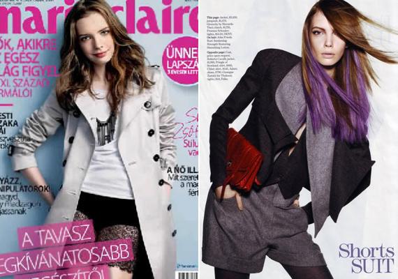 A magyar Marie Claire 2010 májusában választotta Zsófit címlaplánynak, de már az amerikai kiadásban is szerepelt divatfotója.