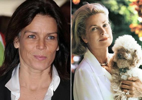 Jól látszik a fotón, hogy mennyire hasonlít édesanyjára az 51 éves Stephanie. A szeme, az orra, a szája egyértelműen Grace Kellyt idézi.