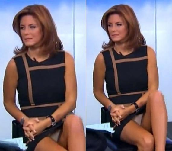 A gazdasági elemzések közben elfelejtkezett magáról a műsorvezetőnő és megmutatta, mi van a szoknyája alatt.