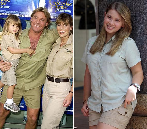 Steve Irwin sajnos már nem élhette meg lánya, Bindi sikereit. 2006-ban azt követően hunyt el, hogy egy tüskés rája megtámadta.