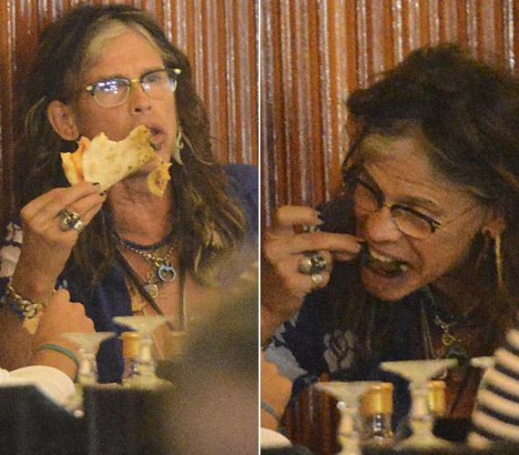 Az olasz vacsora láthatóan finom volt, ami mellé pár pohárkával is lecsúszott.