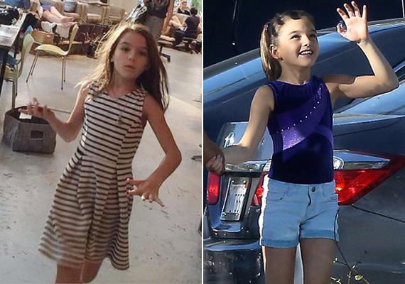 Néhány napja készültek ezek a fotók a kis Suriról. A kislány az édesanyjával ment vásárolni, majd táncórára menet kapták le a lesifotósok.