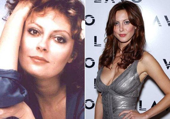 Hihetetlen, mennyire hasonlít anya és lánya. Eva most ugyanannyi, mint amennyi édesanyja volt a bal oldali fotón.