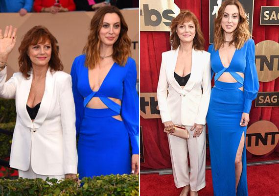 Mindenki Susan Sarandon melleivel volt elfoglalva, pedig Eva megjelenése ugyanúgy ellophatta volna a show-t. A királykék színű, mélyen dekoltált estélyi tökéletes választás volt a díjátadóra.