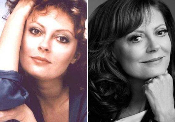 A két fotó között mintegy 35 év telt el, de mintha a színésznőn nem fogna az idő. 69 évesen még mindig csodásan néz ki a Ments meg, Uram, vagy az Édesek és mostohák sztárja, aki sosem plasztikáztatott.