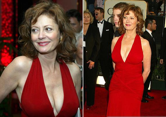 Susan Sarandon a 2003-as Golden Globe gálán viselte ezt a tűzpiros ruhát. Nem csoda, hogy a színésznő sok bókot kapott a díjátadón!