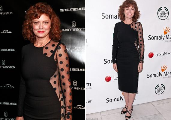 2011-ben egy jótékonysági gálán húzta fel ezt a fekete, pöttyös miniruhát, melyet Stella McCartney tervezett. Sokan megszólták, hogy hónapokkal lemaradt más sztároktól a viselésben, azonban ők biztosan nem így néznek majd ki benne 64 éves korukban!