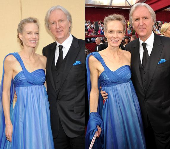 A 2010-es Oscar-gálán már láthatóak voltak a fogyás jelei ebben a kék színű, előnytelenül választott estélyiben.