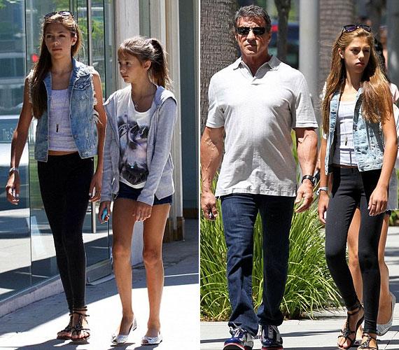 Az akciósztár nemrég Beverly Hillsben sétálgatott két fiatalabbik lányával.