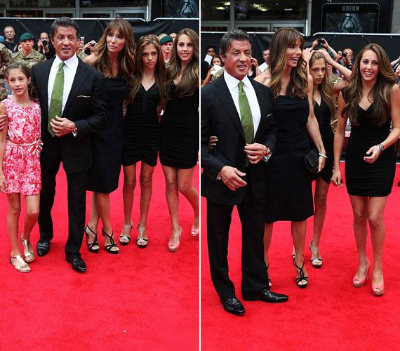 A három hölgy összeöltözött, mind fekete koktélruhában vettek részt a filmpremieren.