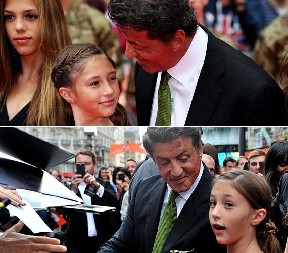 Legfiatalabb gyermeke, a tízéves Scarlet Rose az ötödik a sorban.