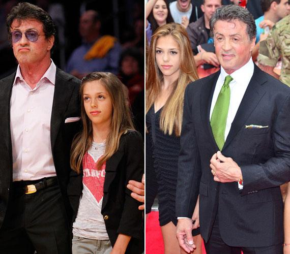 A középső lány, a 14 éves Sophie Rose 1998-ban jött világra. A bal oldali fotó 2010 májusában, a jobb oldali 2012 októberében készült.