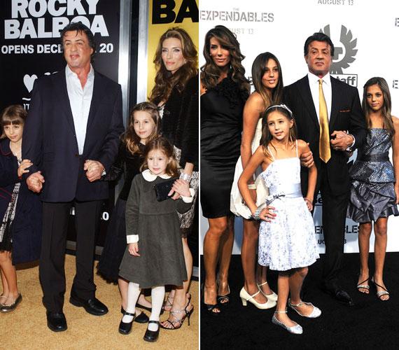 A Rocky Balboa 2006-os premierjén még kicsik voltak, ma már kész hölgyek a bájos, szőke csemeték.