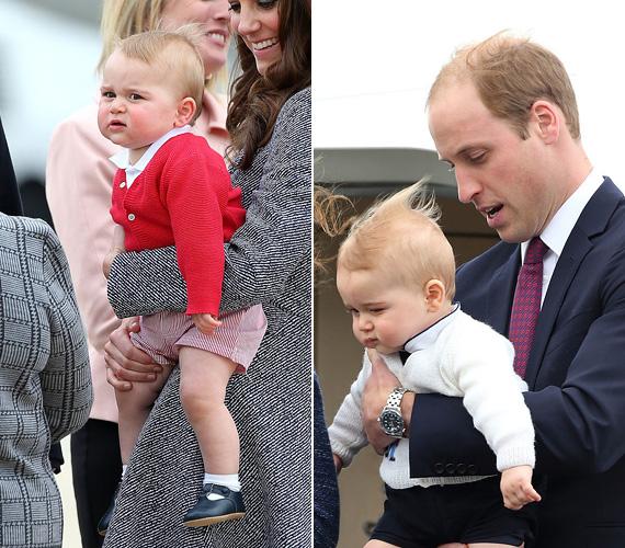 """""""Ez az átkozott szél... remélem, azért jól nézek ki a fotókon!"""" - fejezte ki aggodalmát egy látványos grimasszal a kis herceg."""