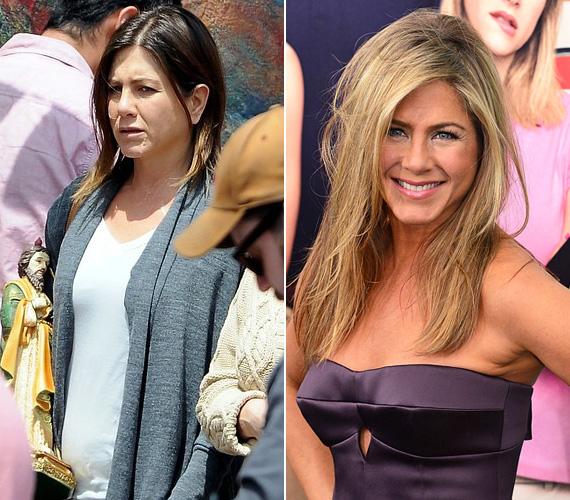 Jennifer Aniston sokáig ugyanazt vagy hasonló karaktert alakított a filmekben: a kissé szerencsétlen, ámde csinos szinglit, aki előbb-utóbb - szó szerint is akár - belebotlik a nagy Ő-be. Az utóbbi években azonban kicsit merészebb a szerepválasztásban: a Förtelmes főnökökben egy szexéhes nőt alakít barna hajjal, a 2014 tavaszán leforgatott Cake című drámában pedig nem csak a haja barna, hanem az arca is egészen megcsúnyult, köszönhetően a maszkmestereknek.