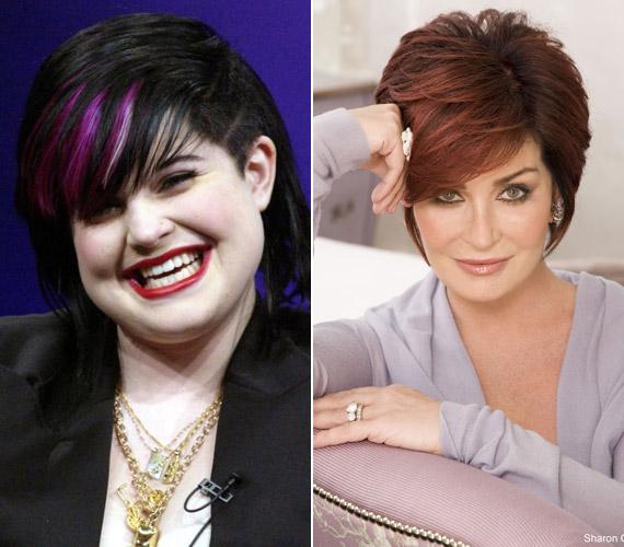 Kelly Osbourne arcában nyomokban felfedezhetőek édesanyja vonásai, de súlyfeleslege miatt nem mondható rájuk, hogy hasonlítanak.