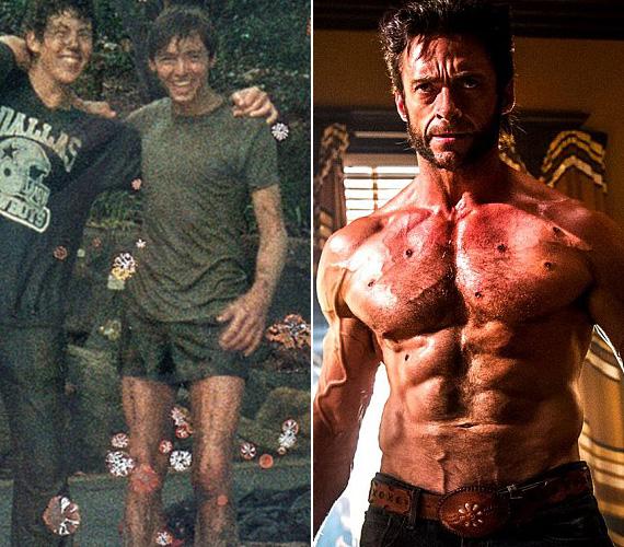 """Hugh Jackman az Instagramján osztotta meg a képet, mely körülbelül 20 évvel ezelőtt készült róla és barátairól, mellé pedig tréfásan azt írta: """"Most már tudjátok, miért hívtak piszkafának!"""". A 46 éves ausztrál színész az X-Men kedvéért gyúrta ki magát, ahol Farkast alakítja, azóta is bevallása szerint napi három órát edz, hogy tartsa alakját."""