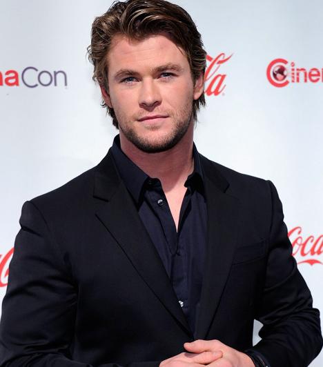 Chris Hemsworth  Az ausztrál szépfiú karrierje még most van alakulóban, hiszen korábban csak szappanoperákban és tévésorozatokban szerepelt. A Star Trek kultikus sci-fiben játszott karaktere hozta meg számára a kiugrást, azóta több kösztümös filmben is szerepet kapott. Legutóbb a skandináv, harcos istenség Thor jelmezés öltötte magára, olyan nagy sikerrel, hogy izmos alakja a The Avengersben is feltűnik majd.