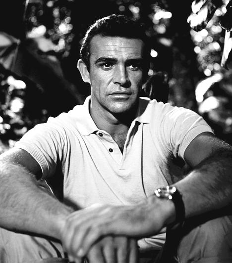 Sean Connery  Bár számos remek alakítással gazdagította a filmtörténelmet, az idősen is vonzó színész sokaknak az egyetlen igazi James Bond marad. Hat alkalommal öltötte magára a sármos kém elegáns szmokingját, majd egyéb filmekben is brillírozott. Az 1987-es Aki legyőzte Al Caponét Oscart is hozott neki. Az 1930-ban született színész az ezredforduló óta már csak elvétve forgat.