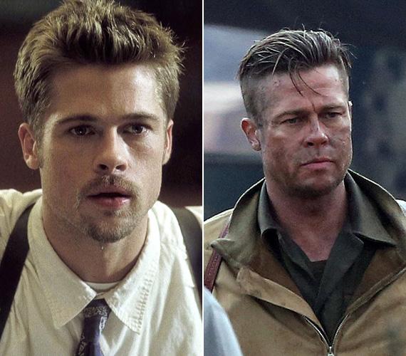 Brad Pitt karrierje szintén a kilencvenes évek elején kezdett felfutni olyan filmekkel, mint a Thelma és Louise, a Folyó szeli ketté, a Tiszta románc vagy az Interjú a vámpírral. 1995-ben pedig a nyomasztó atmoszférájú thrillerrel, a Hetedikkel jelentkezett. A kasszasikerben Morgan Freeman oldalán egy gyilkossági nyomozót alakított - az alkotás jelenleg a 22. helyen áll az imdb.com legjobb filmjeinek listáján. A színész azóta is igyekszik hol érzelmesebb, hol keményebb oldalát megmutatni szerepeiben - és bár már elmúlt 50 éves, még mindig jól néz ki, sőt, a ráncok csak szexisebbé tették. Amúgy nemrégiben fejezte be a Fury című háborús drámát, ahol egy őrmestert alakít, magyar bemutatójáról egyelőre nincs hír.