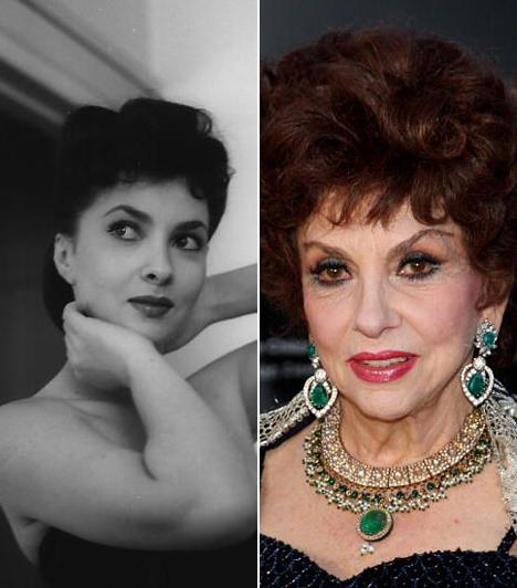 Gina Lollobrigida  Az isteni Lollóra természetes szépségének köszönhetően az ötvenes évek második felében már úgy tekintettek, mint a világ legszebb asszonyára. Több évtizedes filmes karrierje után sikeres fotóriporter lett belőle, még Fidel Castróval is sikerült egy exkluzív interjút készítenie.
