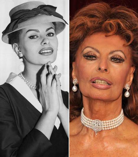 Sophia Loren  Korának egyik legnagyobb olasz színésznőjére egy szépségversenyen figyeltek fel a producerek, a hatvanas években pedig már az egyik legismertebb nemzetközi szexszimbólumként tekintettek a dús idomú bombázóra.