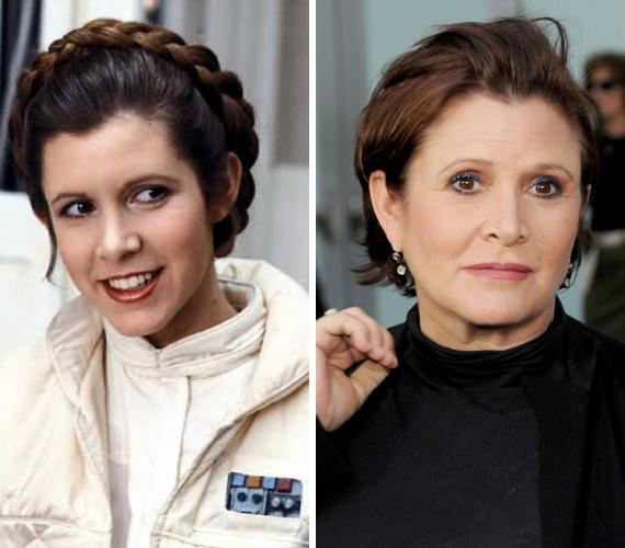 Nincs olyan, aki ne emlékezne a barna hajú és bájos Leia hercegnőre a Csillagok háborúja filmekből. A most 58 éves Carrie Fischer 1977-ben kapta meg a szerepet, ami meghozta neki az örök népszerűséget és világhírnevet. A második részt 1980-ban, a harmadikat pedig 1983-ban forgatták. Sokáig drogproblémákkal küzdött, de ma már egészséges és boldog. A J.J. Abrams által rendezett vadonatúj Csillagok háborújában ismét Leia bőrébe bújik. A film 2015 decemberében kerül a mozikba.