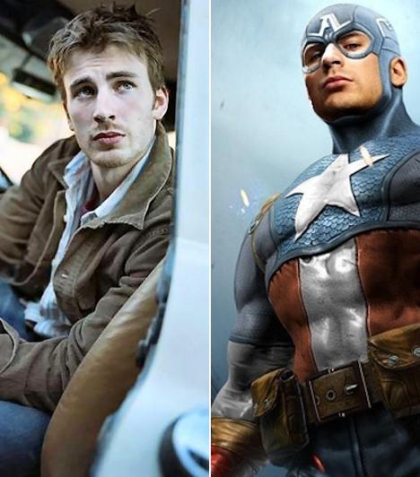 Chris Evans  Az 1981-ben született amerikai macsó olyan vígjátékokkal robbant be a köztudatba, mint a Nemek harca vagy az Egy bébiszitter naplója, de hamarosan bebizonyította, hogy a bohóckodásnál többre is képes. A 2011-ben mozikba kerülő, Marvel-képregényen alapuló Amerika Kapitány főszerepében rendíthetetlen, hősies karaktert alakít.  Kapcsolódó cikk: Ezt nézd meg! Félmeztelenül állt modellt a Fantasztikus négyes sztárja »