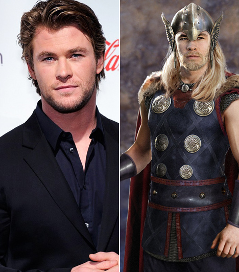 Chris Hemsworth  Az 1983-as születésű ausztrál macsó a Star Trek sorozattal tűnt fel, majd filmvásznon is bizonyította karizmatikus jelenlétét. Az izmos, szőke, kék szemű szépfiúnak jól állnak a hős szerepek, nem véletlen, hogy ráosztották a skandináv isten, Thor szerepét. A jóképű sármőr az öntörvényű, kalapácsos harcos szerepében nem csak a világot menti meg a gonosztól, de Natalie Portman szerelmét is elnyeri.