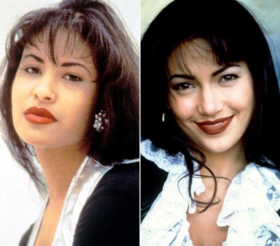 Jennifer Lopez 1997-ben játszotta el Selena Quintanilla-Perez mexikói-amerikai énekesnőt a Dalok szárnyán című életrazji drámában. A Grammy-díjas sztárt 23 éves korában a saját alkalmazottja lőtte le, miután Selena rájött, hogy a férfi meglopja. Jennifer Lopezt Golden Globe-ra jelölték játékáért.