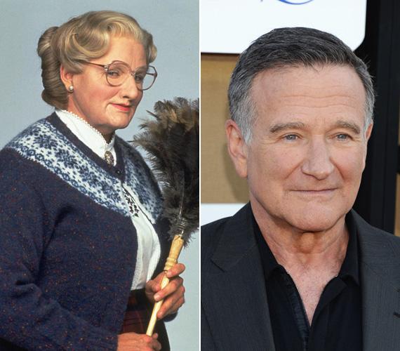 Robin Williams szerepe szerint azért adta ki magát középkorú nőnek a Mrs. Doubtfire - Apa csak egy van című filmben, hogy elvállalhassa a házvezetőnői és gyereknevelői állást, melyet válófélben lévő felesége írt ki, és így a gyerekei mellett lehessen. A színésznek az 1993-as film máig az egyik legkedveltebb vígjátéka.