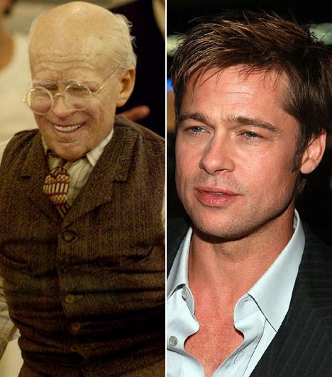 Brad Pitt  Bár Brad Pitt mindent igyekszik elkövetni, hogy ne könyveljék el üresfejű sármőrnek, azért akár rosszfiút, akár jót alakít, mindig szexinek látják a női nézők. A Benjamin Button különös élete című film különleges történetében azonban úgy szeretteti meg magát a közönséggel, hogy a megszokott dögös vonásoknak nyomát sem lehet lelni az arcát - legalábbis eleinte. Ugyanis egy olyan férfit alakít, aki öregen születik, és szép lassan fiatalodik vissza. Meggyőző és emberközeli játéka 2009-ben Oscar-jelölést ért a színésznek.  Kapcsolódó cikk: Pufók gyerek volt Brad Pitt! Meglepő fotókat közölt magáról