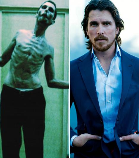 Christian Bale  A cirkuszos szülőktől származó Christian Bale-t igazi átváltozóművészként tartják számon a filmszakmában, hiszen testének sanyargatását már profi szinten űzi, amennyiben egy szerepről van szó. A 2004-es A gépész lelkiismeretfurdalástól gyötört főhősének kedvéért csontsoványra fogyott, de egy évvel később már izmos denevérember a Batman: Kezdődik!-ben. Izmait a Terminátorban is megvillantotta, de a 2010-es Fighter - A harcos drogfüggő ex-bokszolója bőrébe bújva Bale-t ismét csont és bőr figuraként láthatták viszont a nézők, alakítása pedig meghozta neki végre az Oscart. Kapcsolódó cikk: Szinte rá sem ismerni! A Batman jóképű sztárja elképesztő változáson esett át