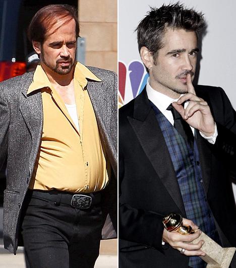 Colin Farrell  A filmszakma ír fenegyerekét sosem jólfésültsége miatt választották ki egy-egy filmszerepre, a nézők legtöbbször kissé zűrös, esetenként pszichopata karakter bőrébe bújva láthatják. A 2011-es Förtelmes főnökök című krimi-vígjátékban azonban Colin Farrell külsőleg is átlényegült, rajongói közül sokan fel nem ismernék a kopaszodó, dagi pasasban kedvenc színészüket.  Kapcsolódó cikk: A felismerhetetlenségig megváltozott a népszerű színész »