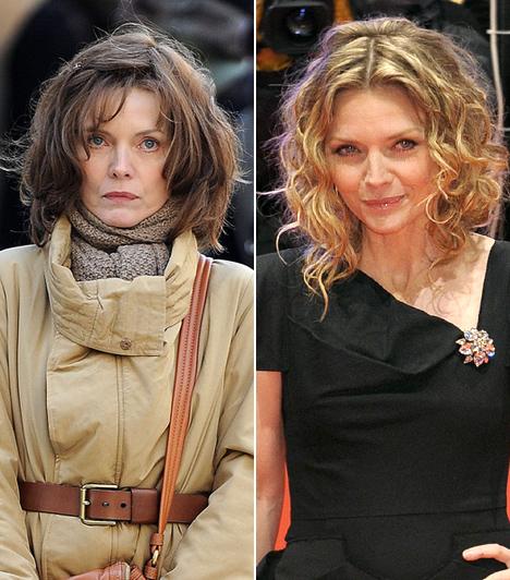 Michelle Pfeiffer  A legszebb színésznők is képesek csúfsággá alakulni egy szerep kedvéért. Bizonyság erre Michelle Pfeiffer, aki a Csillagporban rút banyaként ijesztgette a nézőket, a 2011-ben még forgatás alatt álló New Year's Eve című romantikus komédiában pedig megfáradt, ballonkabátos középkorú nő alakjában hervasztotta le az iránta rajongó férfiakat. Azért nincs ok a pánikra, a vörös szőnyegen továbbra is ugyanolyan bájos, mint régen.  Kapcsolódó cikk: Michelle Pfeiffert borzasztó külsővel kapták le az utcán »