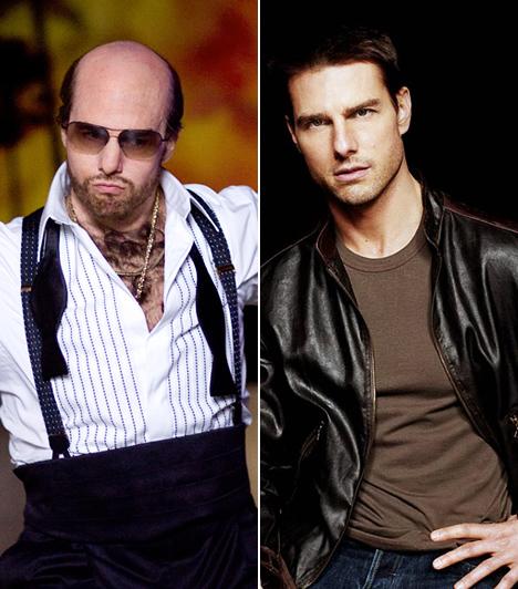 Tom Cruise  Az ezredforduló után Tom Cruise csillaga nem igazán ragyogott a legfényesebben Hollywoodban. A színész személye kezdett egyre kínosabbá válni, és több cikk született a szcientológia iránti rajongásáról és feleségéhez, Katie Holmes-hoz fűződő viszonyáról, mint alakításairól. Mindez azonban egycsapásra megváltozott, amikor 2008-ban a Trópusi vihar című szatírikus filmben megláttuk a mocskos szájú, kopasz, szőrös és pocakos producer, Les Grossman bőrében - játékát Golden Globe-ra jelölték.