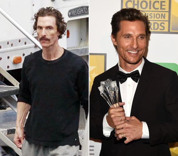 Matthew McConaughey csinos izmaiból alig maradt valami, amikor az AIDS-szel küzdő főhőst formálta meg a Mielőtt meghaltam című filmdrámában. A színész 15 kilót fogyott, szinte csak folyadékon élt- játékáért 2014-ben Golden Globe-bal és Oscar-díjjal jutalmazták.