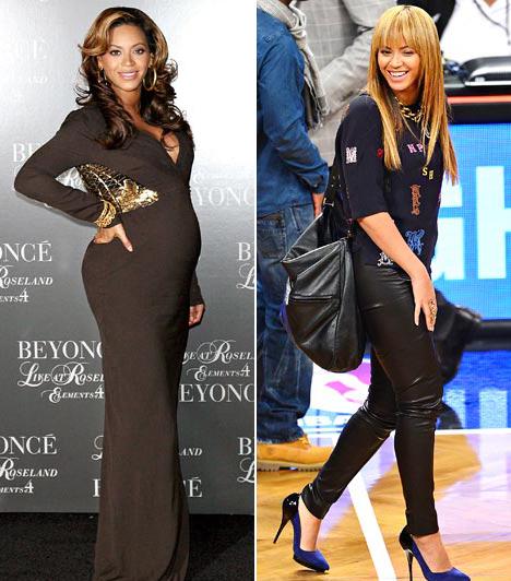 BeyoncéAz énekesnő öt hónap alatt szabadult meg a terhessége alatt felszaladt kilóktól. - Nem is tudjátok, milyen keményen kellett dolgoznom! 28 kilót kellett leadnom - mondta 2012 májusában az atlantai koncertjén.
