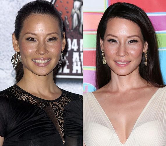 Lucy Liun sem látszik a változás, holott szintén tíz év különbség van a két felvétel között - utóbbit szintén az Emmyn lőtték róla néhány napja. A tajvani származású színésznő idén decemberben lesz 46 éves.