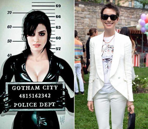 Anne Hathaway fiús külsejét is egy szerepnek, nevezetesen a Nyomorultak Fantine-jának köszönheti, ám az új Batman-filmben még dögös macskanőként köszönti a közönséget.