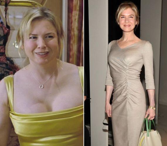 Renée Zellweger kétszer is vállalkozott a drámai átalakulásra, és tíz kilót hízott a Bridget Jones miatt.