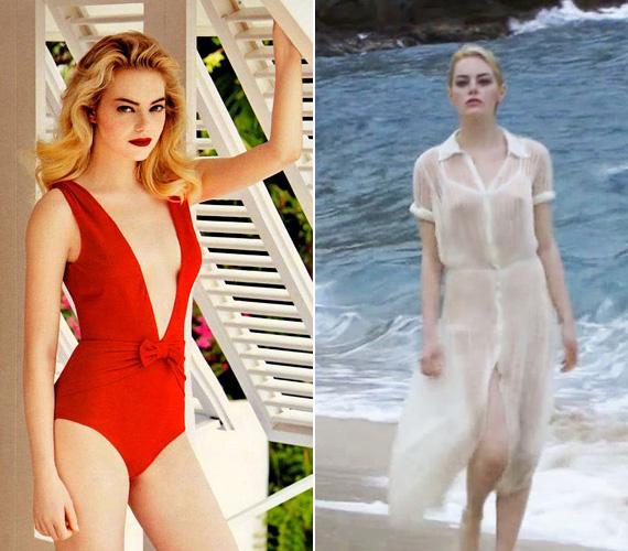 Emma Stone-ról 2011-ben készültek fotók a Vanity Fair magazin számára, melyeken büszkén vállalja kis kebleit. A 26 éves színésznő a természetes szépségek közé tartozik, és már ilyen fiatalon lelkes aktivistája a mellrák elleni küzdelemnek. Édesanyját is rákkal diagnosztizálták 2008-ban, de szerencsére időben észrevették a kóros elváltozást, és két évvel később gyógyultnak nyilvánították.