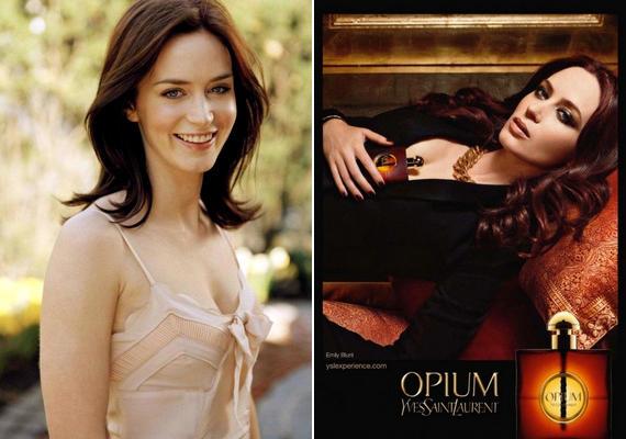 Emily Blunt angol színésznő az Yves Saint Laurent Opium nevű illatának kampányához állt modellt.
