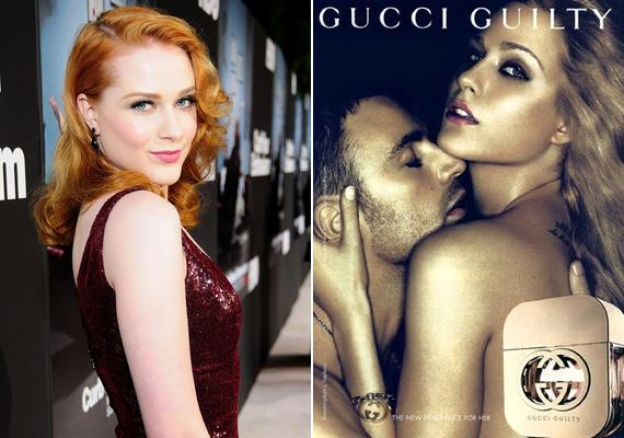 Evan Rachel Wood - Blake Livelyhez hasonlóan - szintén Gucci kampányban szerepelt: A színésznő 2010-ben a Guilty nevű illatot népszerűsítette Chris Evans színészzel közösen.