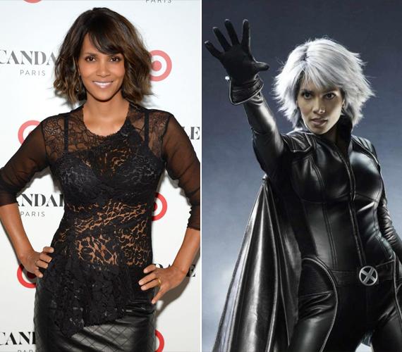 Halle Berry az X-Men mozifilmsorozatban minden alkalommal fehér parókában látható. Ő alakítja Ciklont.