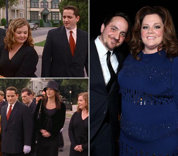 Ben Falcone a való életben feleségül vette a Szívek szállodája egyik főszereplőjét, Melissa McCarthyt, a sorozatban csak ismerősök voltak, a színész-rendező alakítottaMr. Brinket.